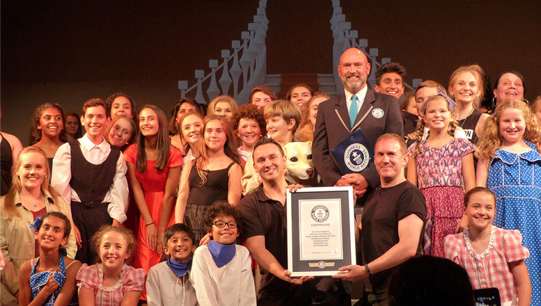 Sharpe Academy currently holds the official GUINNESS WORLD RECORDS title for the FASTEST THEATRICAL PRODUCTION