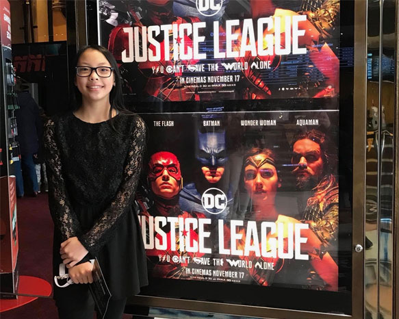 Alison Chang in JUSTICE LEAGUE