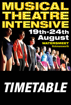 Musical Theatre Intensive 2019 Timetable